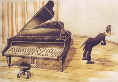 computerized piano, China cartoon