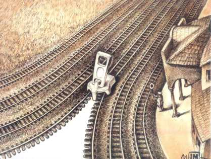 Romania cartoon, Zip rail-way