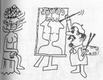 Picasso cartoon Cubism