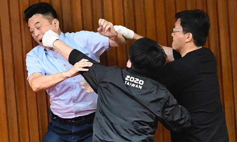 violence in Taiwan chamber
